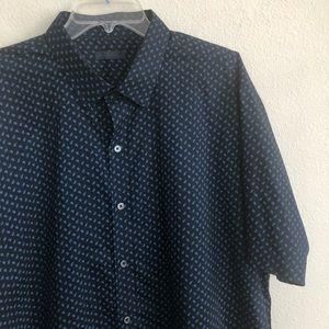 Zachary Prell Floral Short Sleeve Button Shirt